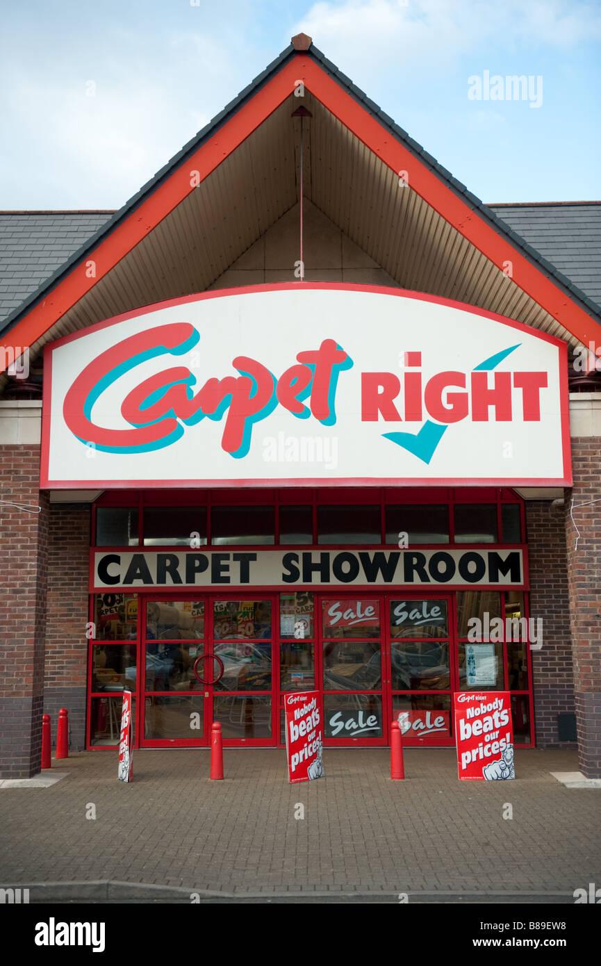 Carpet Right showroom shop store exterior UK - Stock Image
