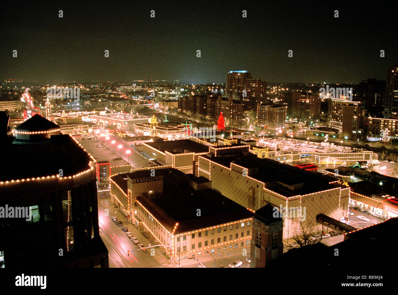 Plaza Lights From The Rooftops Kansas City Missouri United States