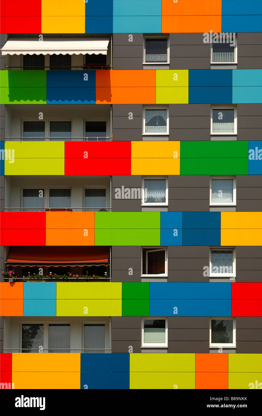 Colourful Exterior Design Of Residential Buildings Dresden Saxony Stock Photo Alamy
