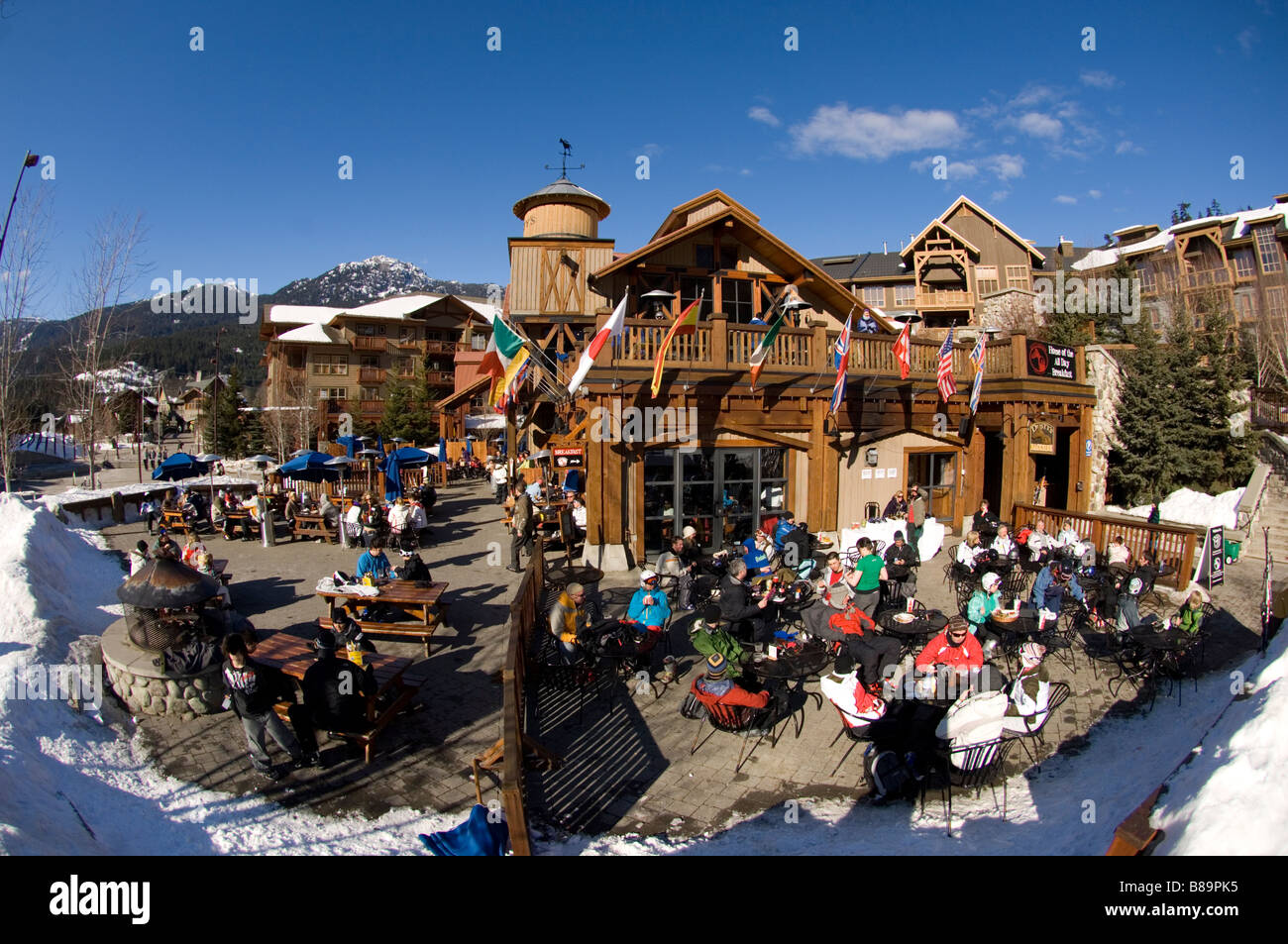 Dusty s at Creekside Whistler British Columbia Canada - Stock Image