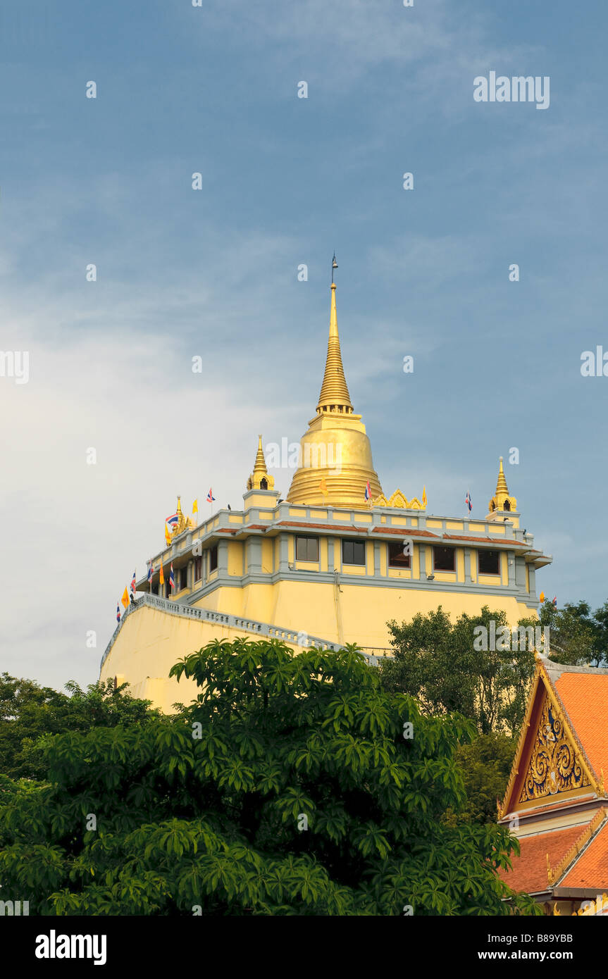 golden mount temple bangkok thailand - Stock Image