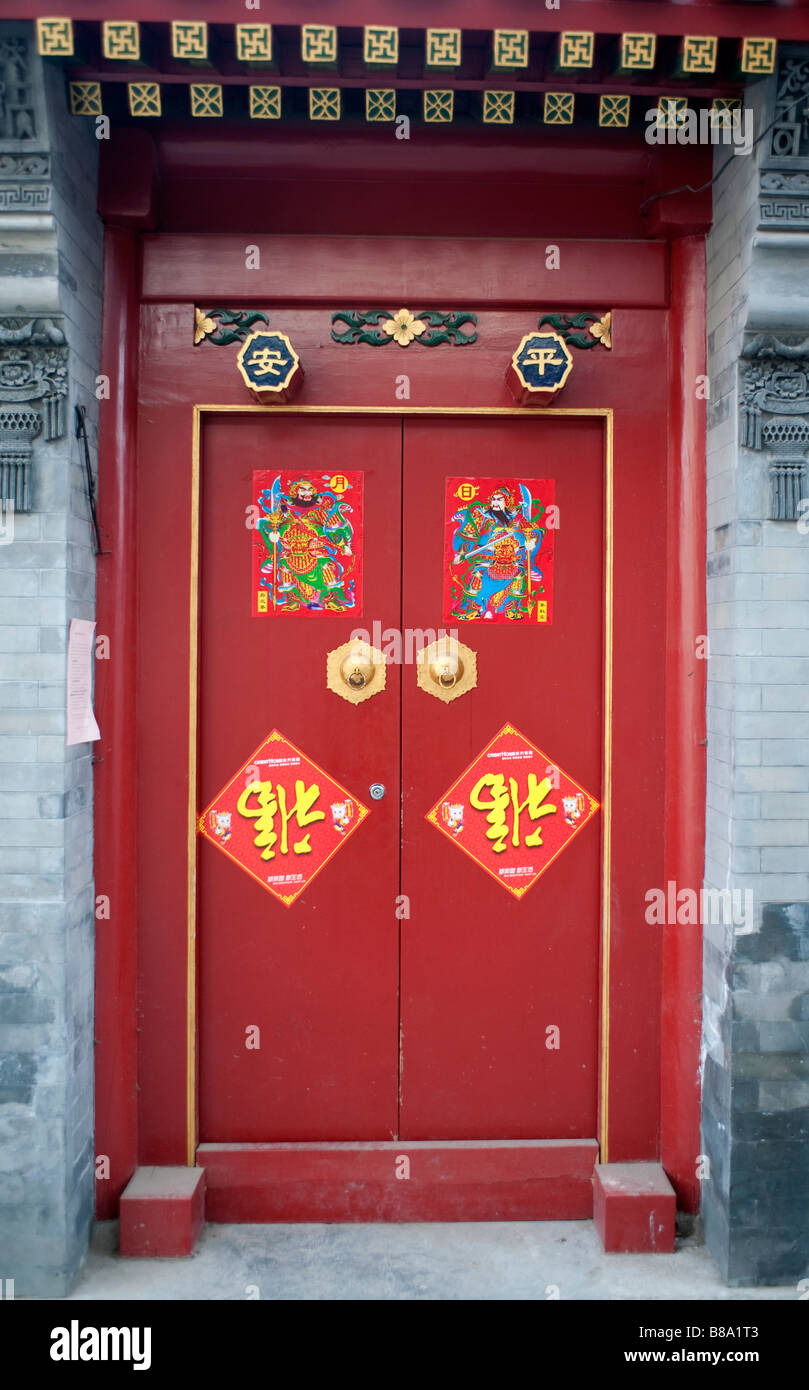 Door Decorated Chinese New Year Stock Photos Door Decorated