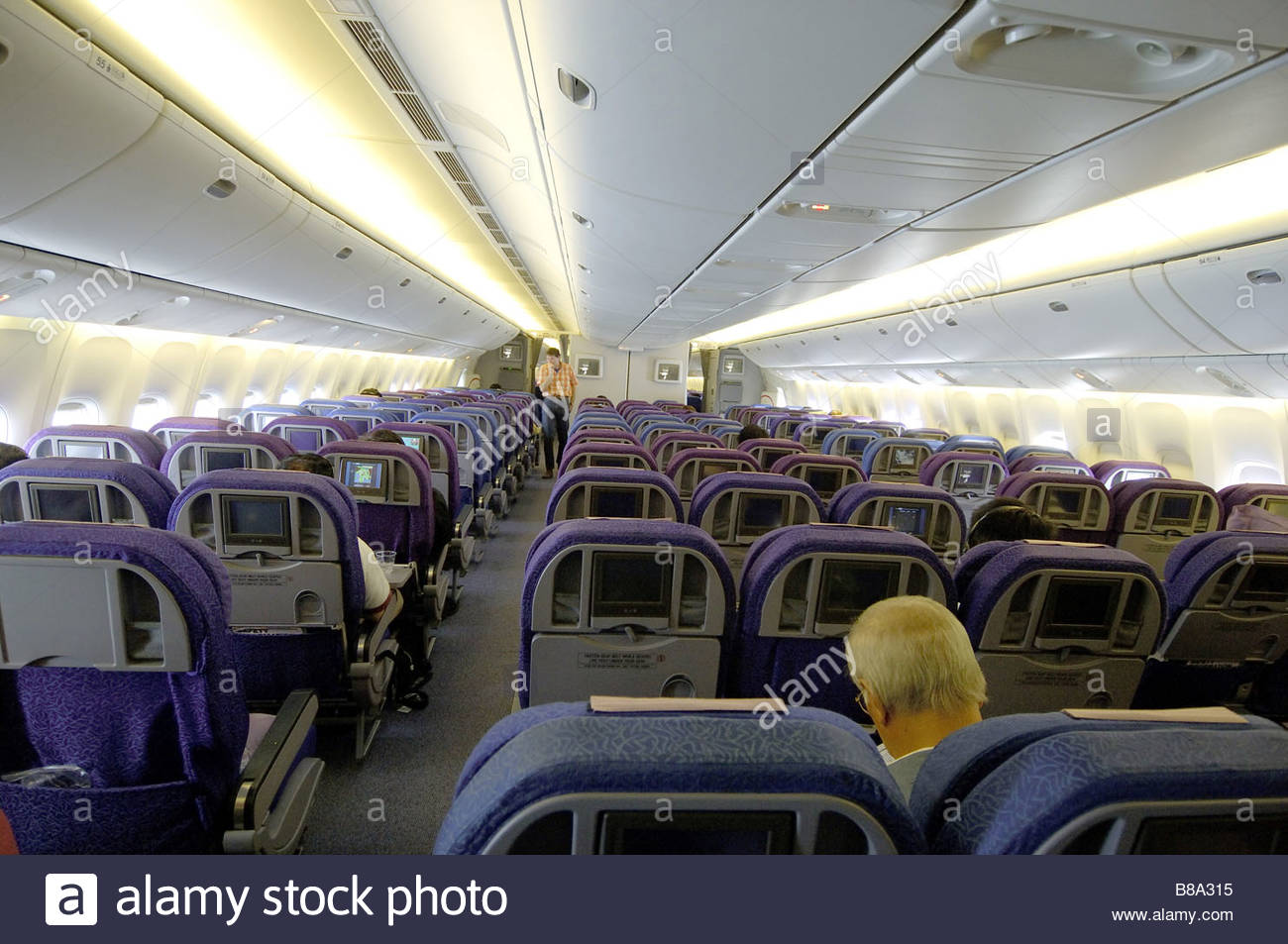 Interior Airplane Of Singapore Airlines ; Boeing 777 ; South East Asia