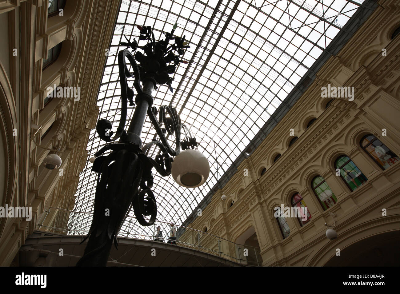 Russia,Moscow,Red Square,Gum Department Store,Ceiling - Stock Image