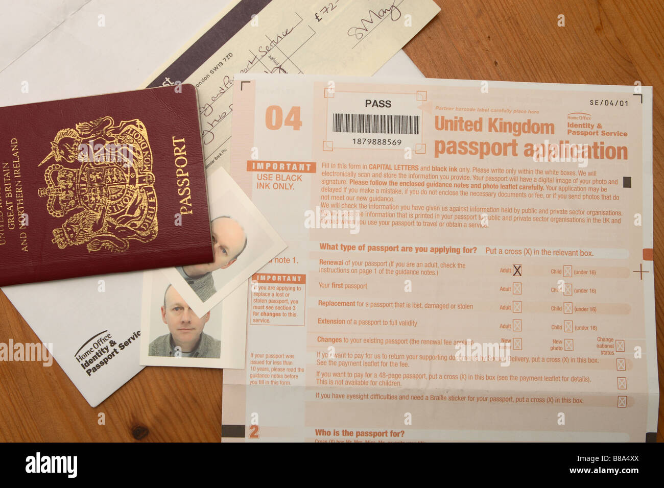 British Passport Application Form To Print, Uk British Passport Application Form And Photograph Photo, British Passport Application Form To Print