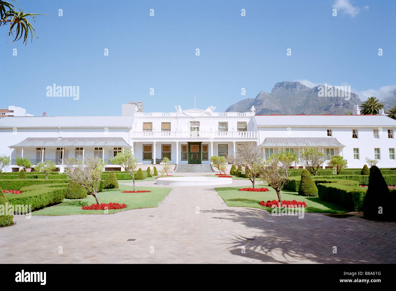 President House Tuynhuys Garden House in Company's Garden in Cape Town in South Africa in Sub Saharan Africa. - Stock Image