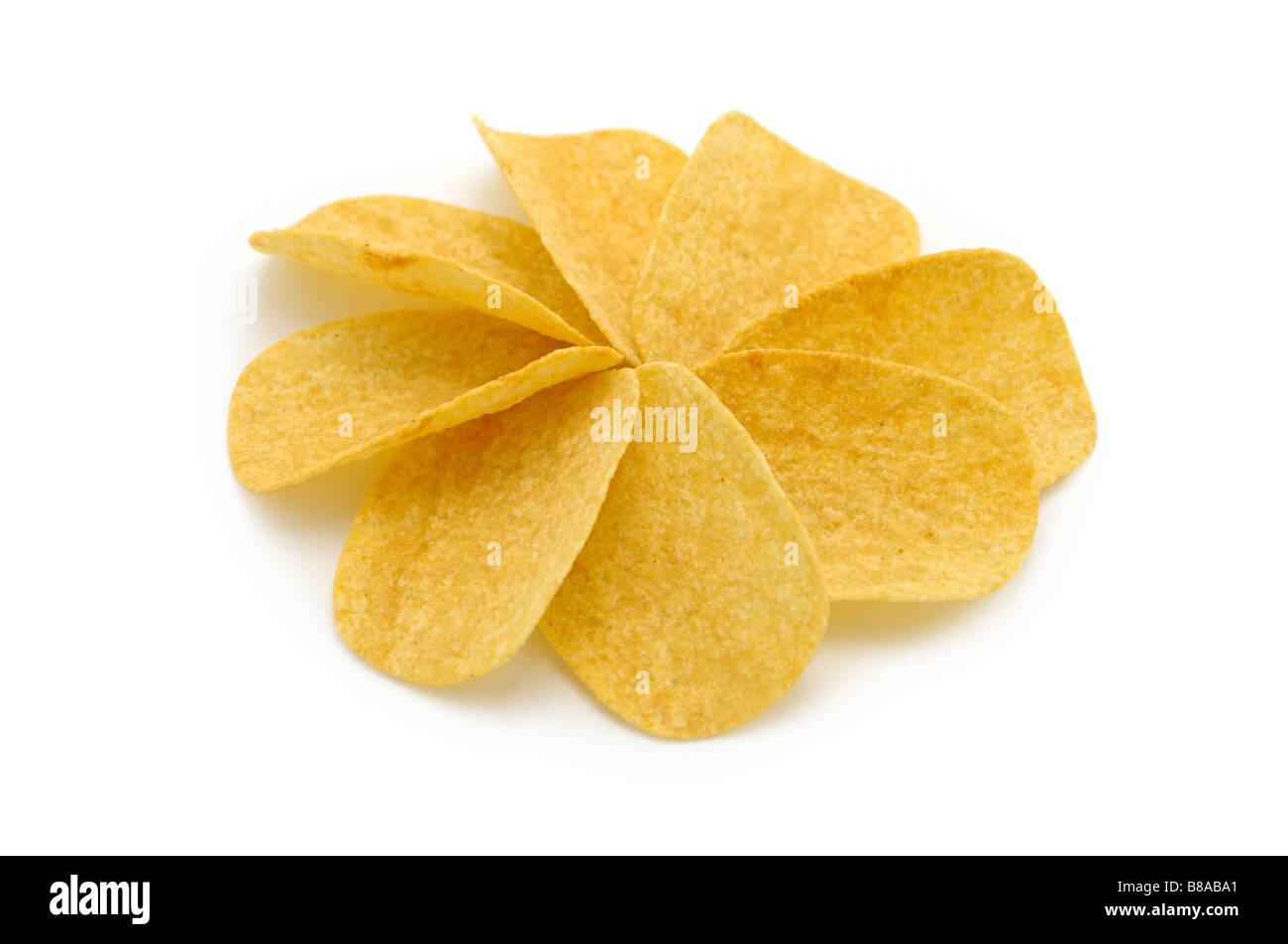 Flavoured Potato Crisps/Chips - Stock Image