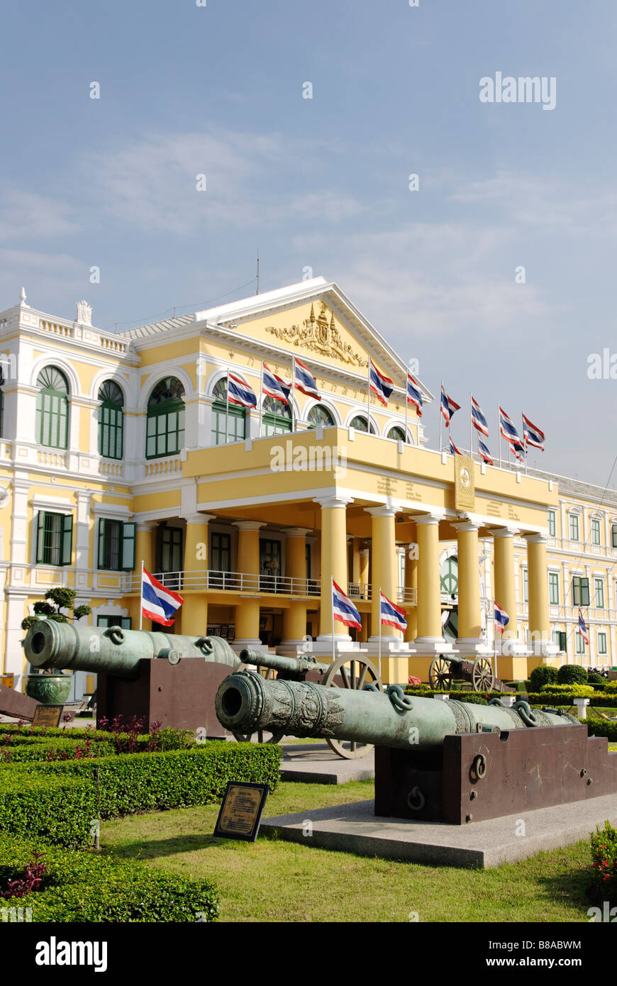 The Ministry of Defence building Phra Nakorn district in central Bangkok Thailand - Stock Image