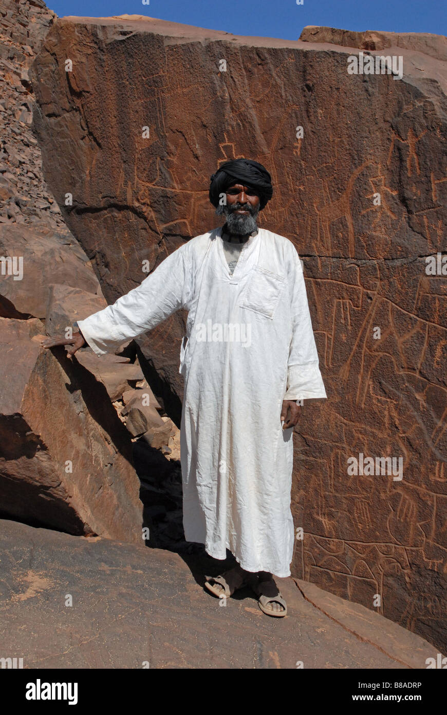 El Ghelouiya site prehistorical in the Sahara desert Mauritania - Stock Image