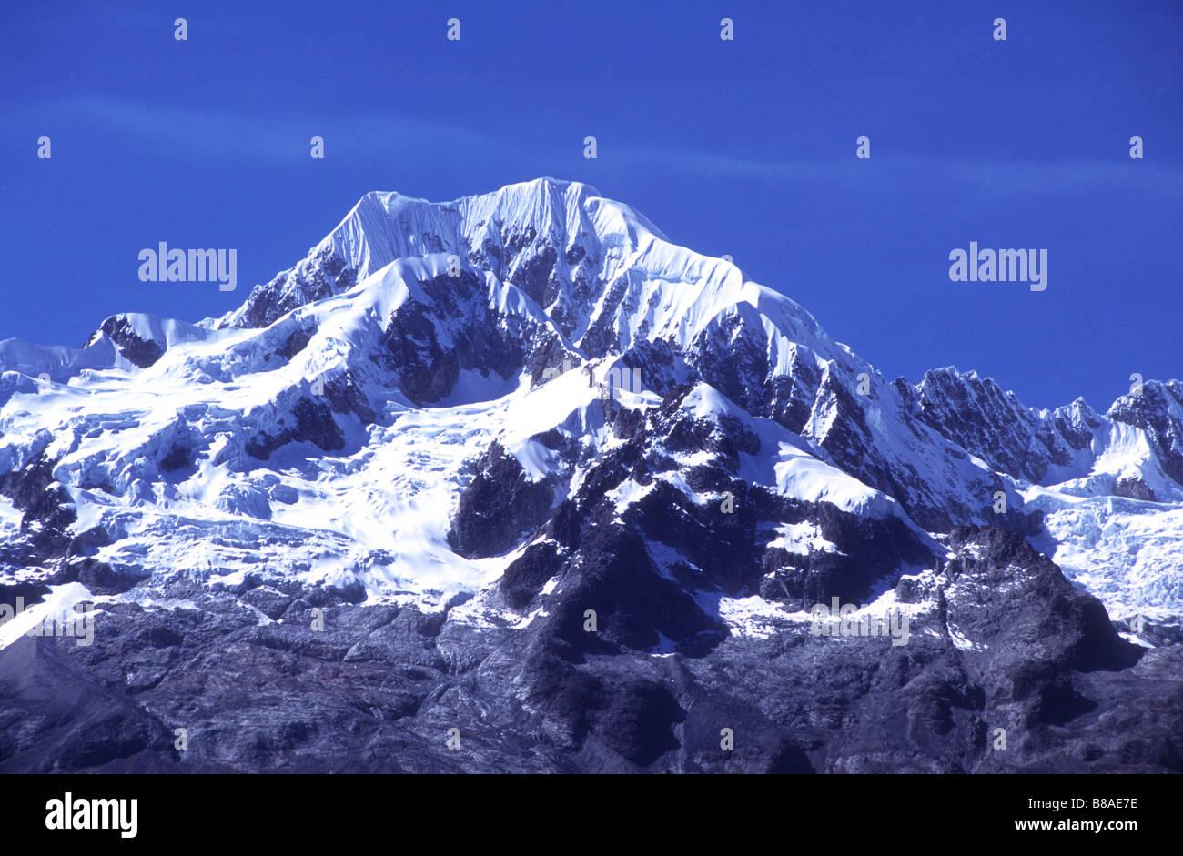Mt Illampu, Cordillera Real, Bolivia - Stock Image