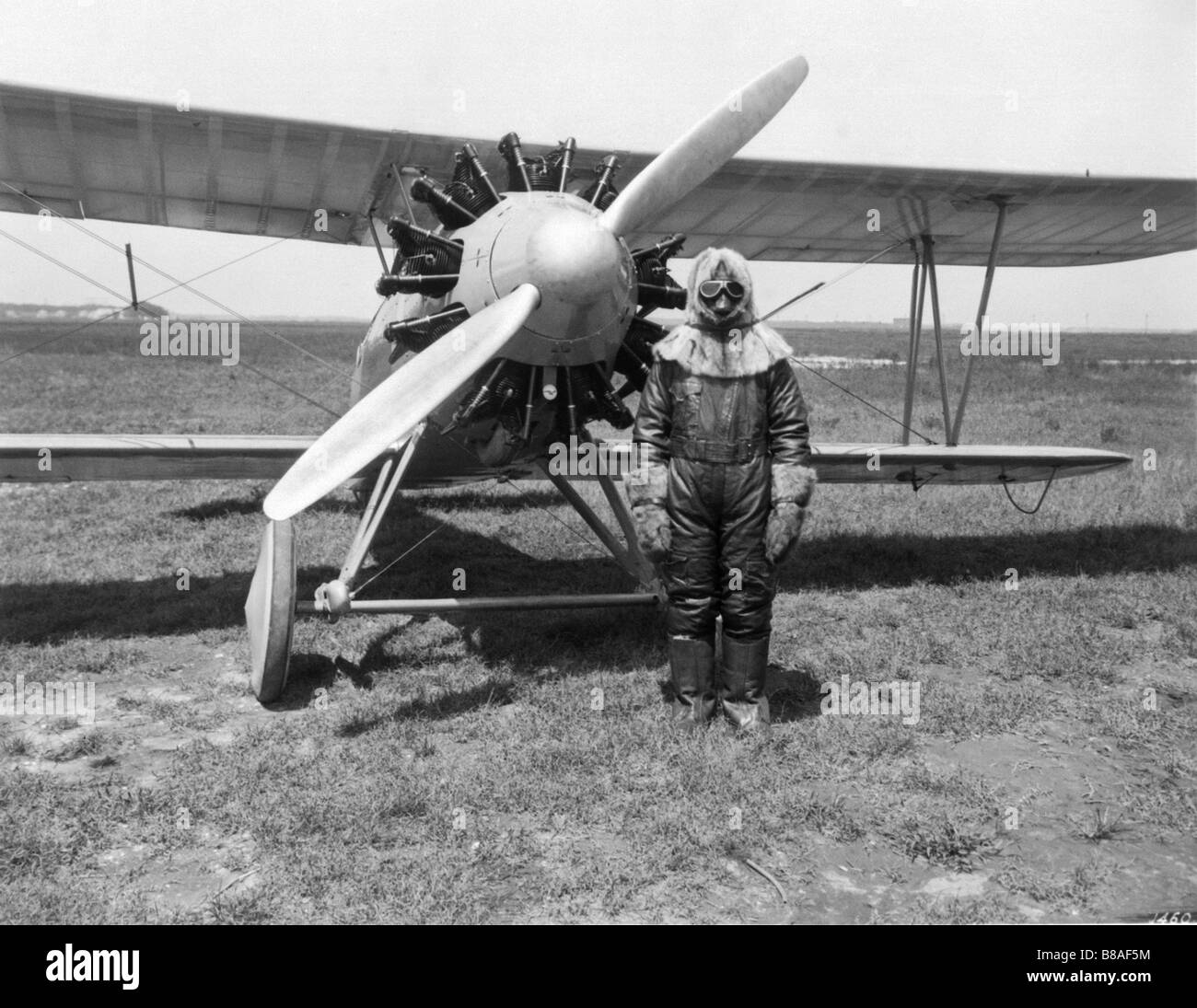 Wright Apache aircraft with a test pilot - Stock Image