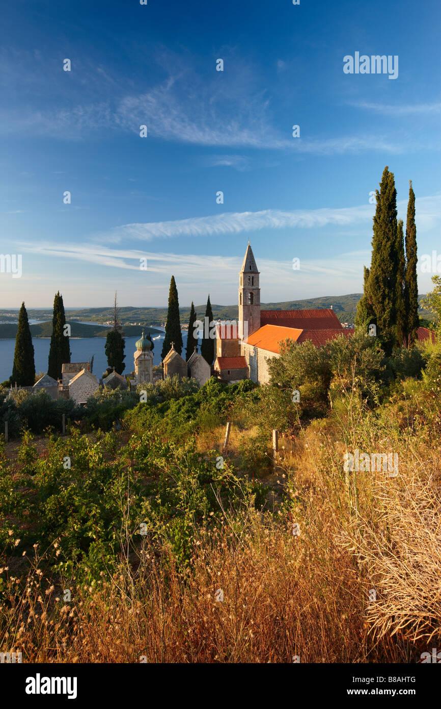 Franciscan monastery Orebić, Pelješac Peninsula - Stock Image