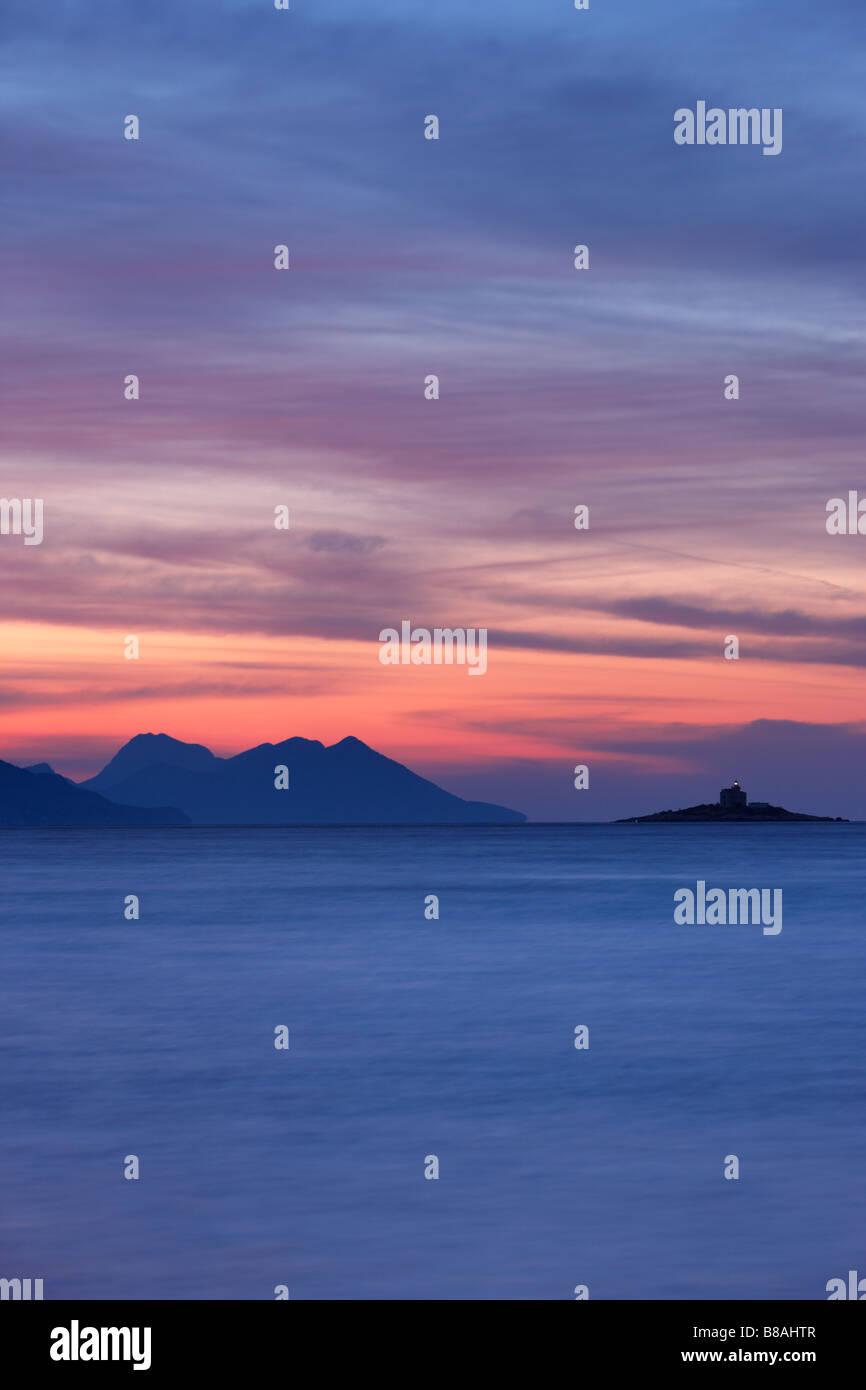 Coast near Orebić, Pelješac Peninsula, Dalmatia, Croatia - Stock Image