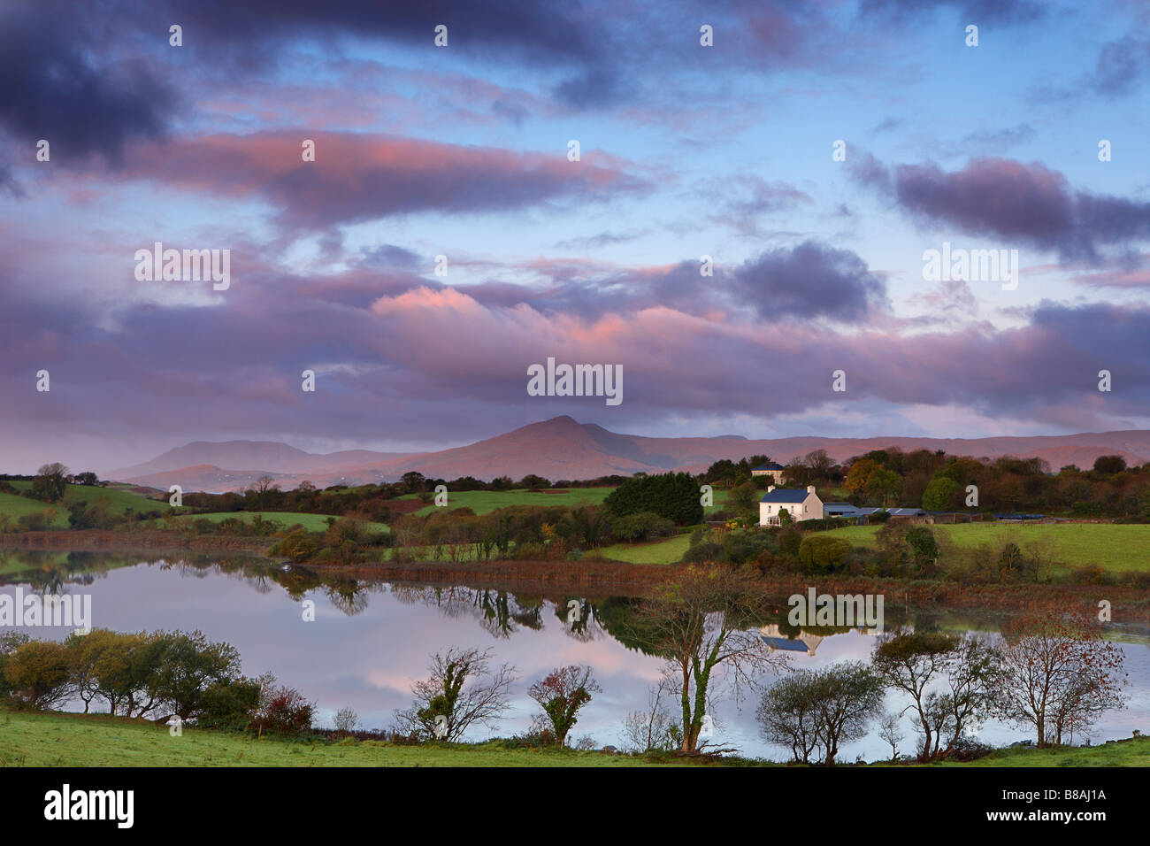dawn Bantry Bay, nr Bantry, County Cork, Ireland - Stock Image