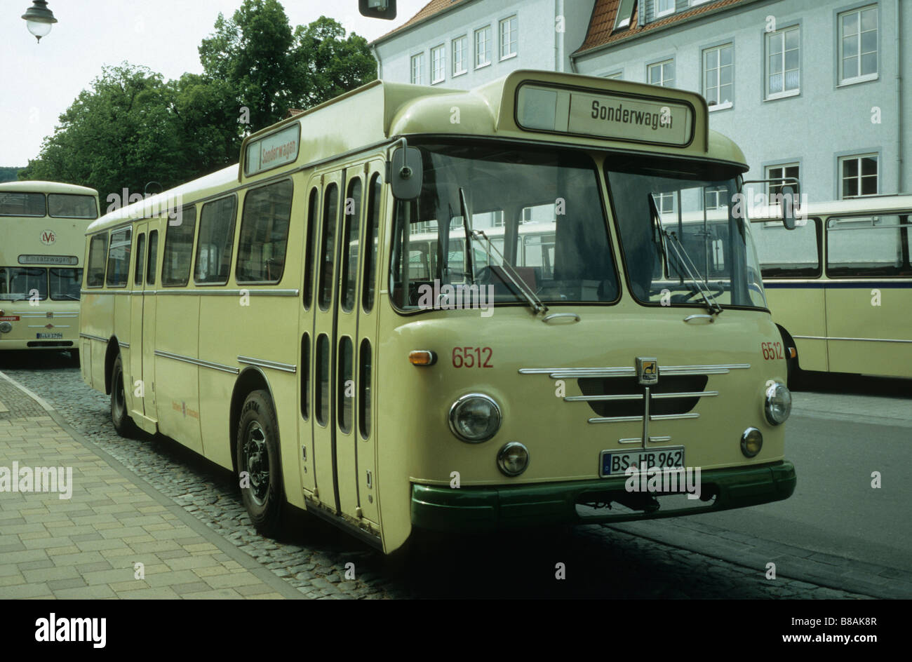Oldtimer Bus built by Büssing Automobilwerke AG, Braunschweig, Germany Stock Photo