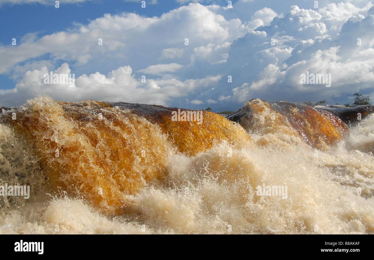 Venezuela river in summer flood. - Stock Image