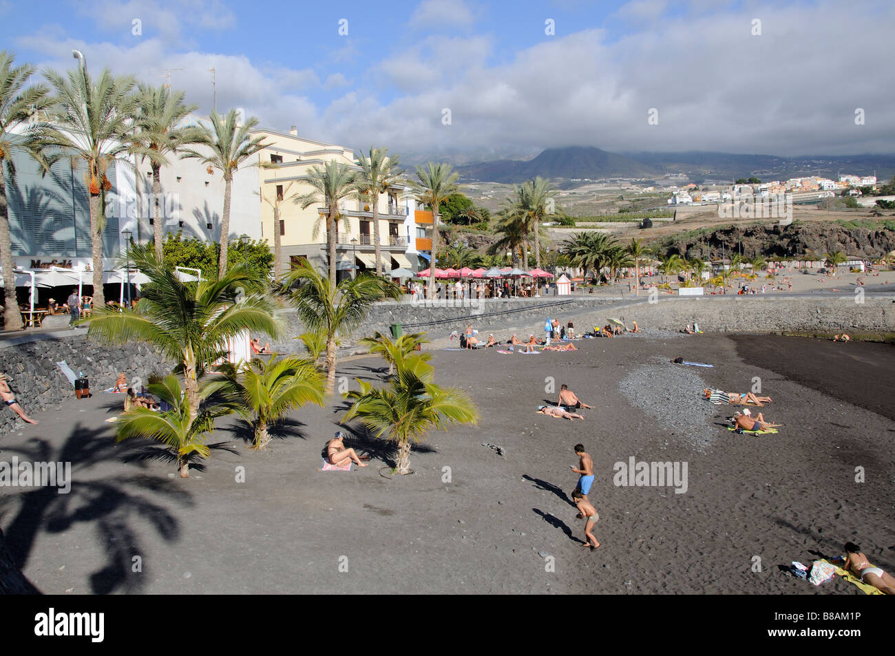 San Juan a seaside resort and fishing port in south Tenerife Canary Islands - Stock Image