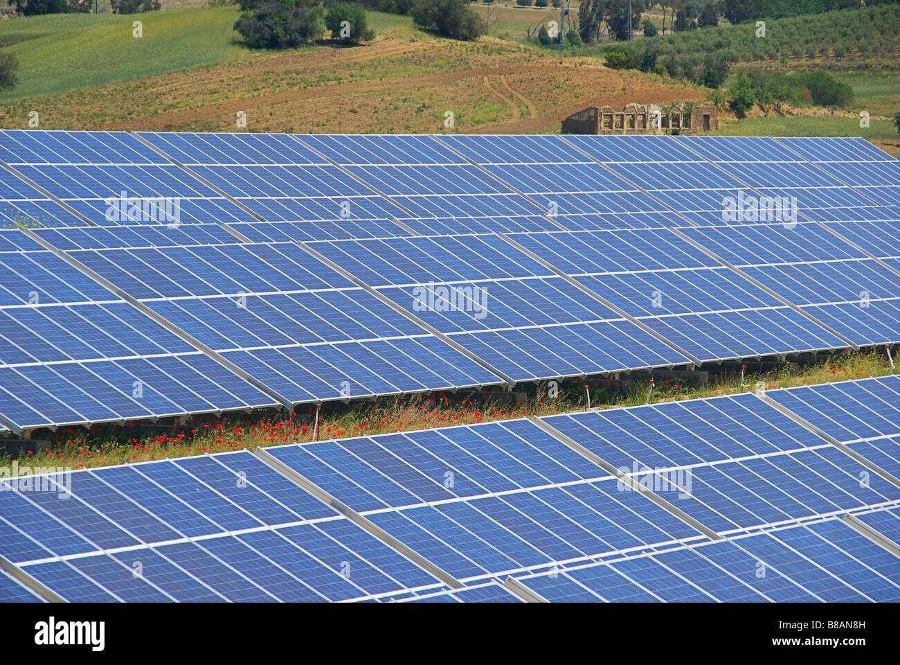 Solaranlage Solar Plant 39 Stock Photo 22363841 Alamy