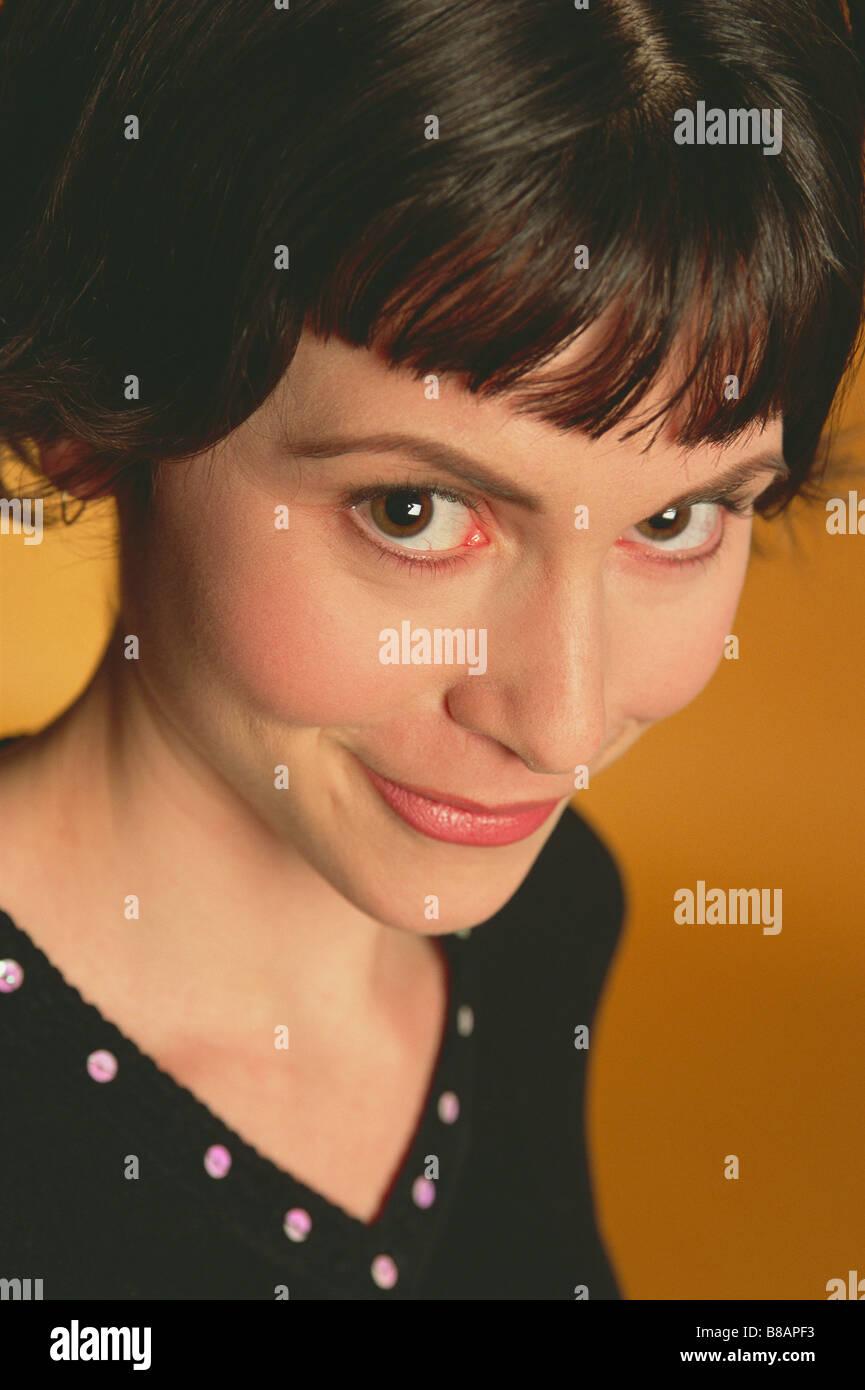 FV3325, Alan Marsh; Portrait  Woman Bob, Vertical - Stock Image