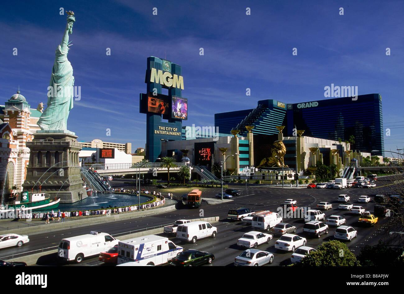 New York New York  MGM Grand Hotels/Casino, Las Vegas, Nevada - Stock Image