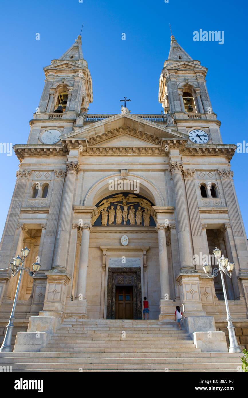 Church of Saints Cosmos and Damian Alberobello Puglia Italy - Stock Image