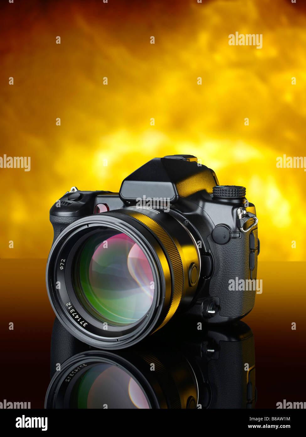 DSLR 35mm Digital Camera vertical - Stock Image