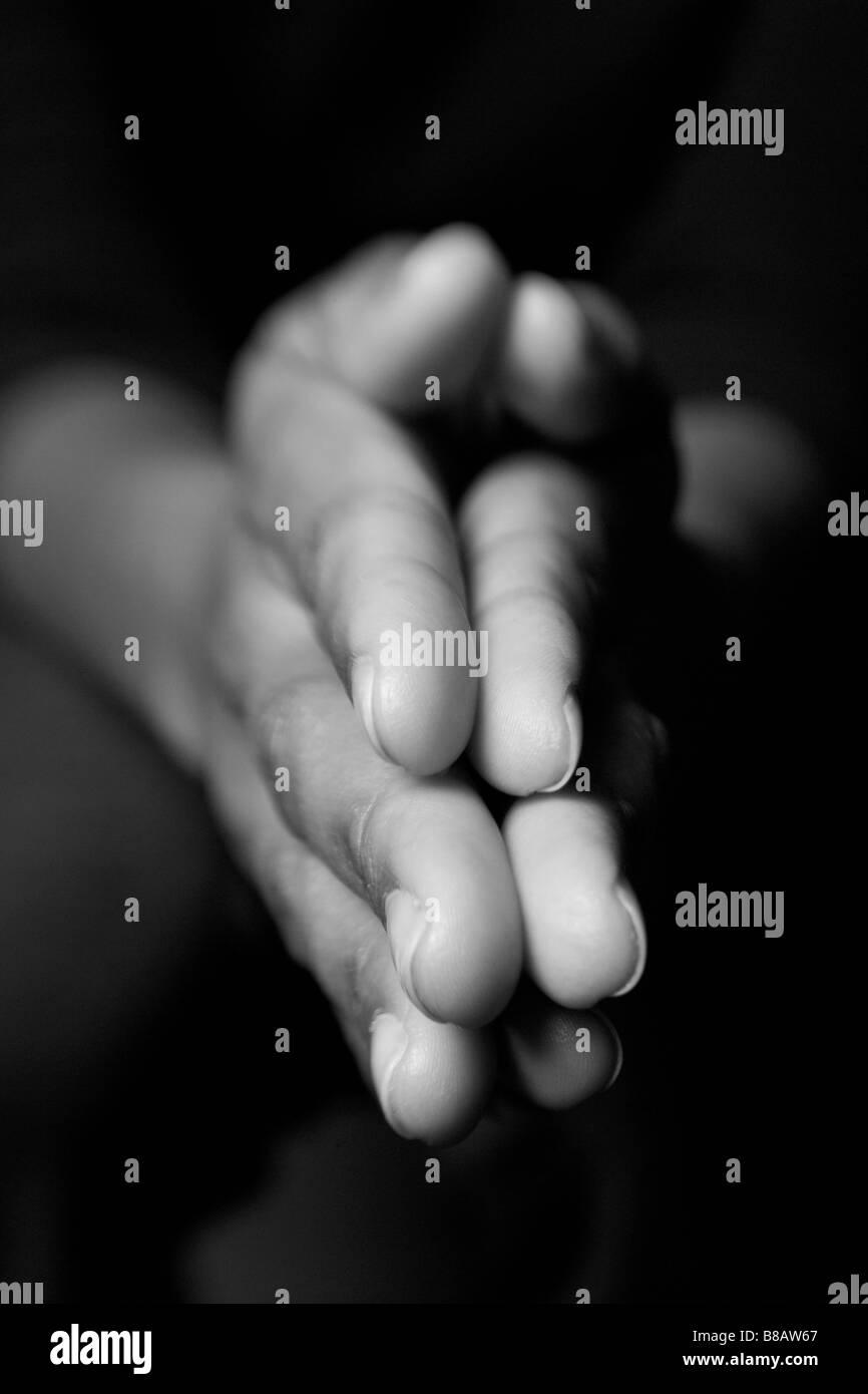 African American Hands vertical - Stock Image