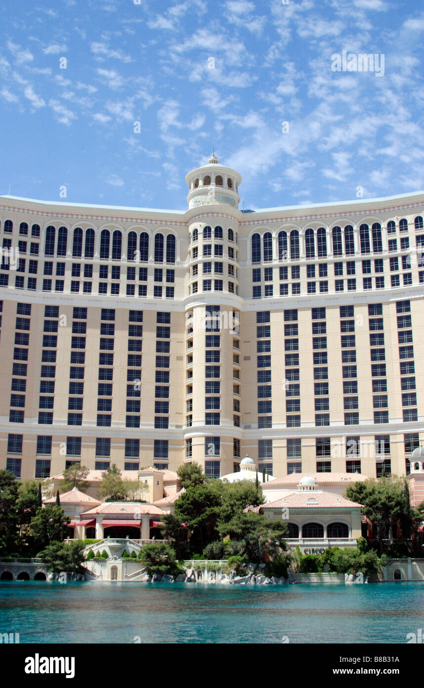 View of bellagio Hotel Casino Las Vegas Nevada USA - Stock Image