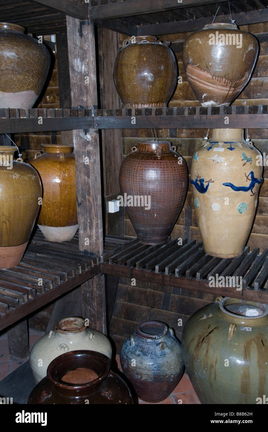 Malacca Malaysia  earthenware crockery pottery - Stock Image