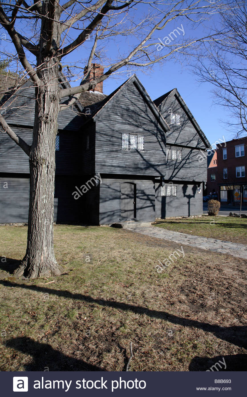 Massachusetts bay colony witch stock photos for Salem house