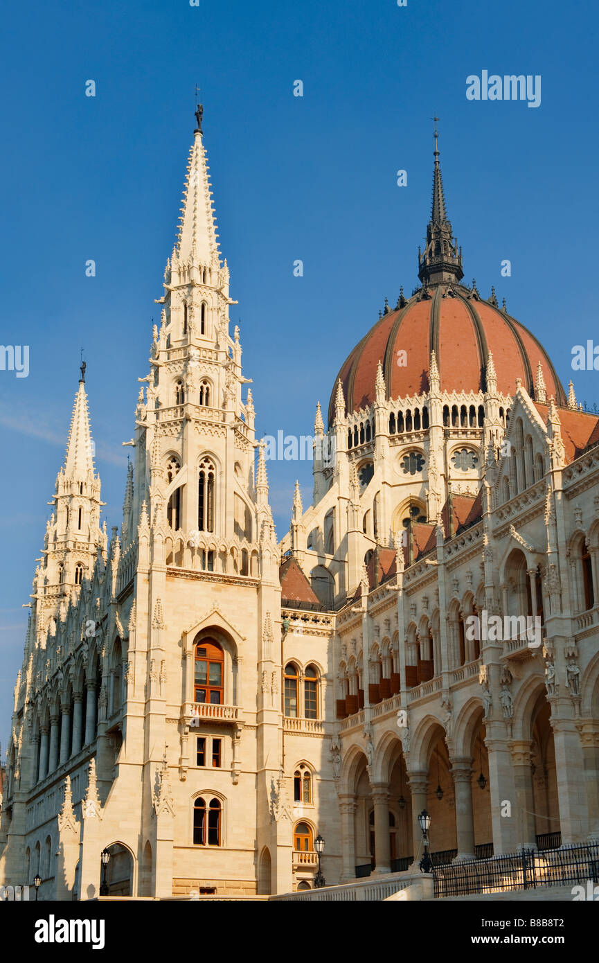 Hungarian Houses of Parliament , Budapest Hungary - Stock Image