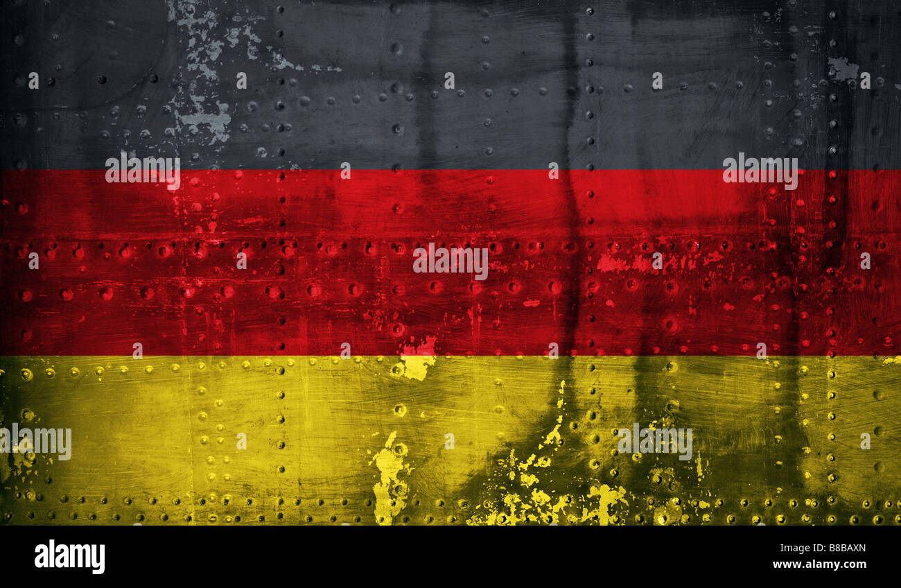 Grunge German flag - Stock Image