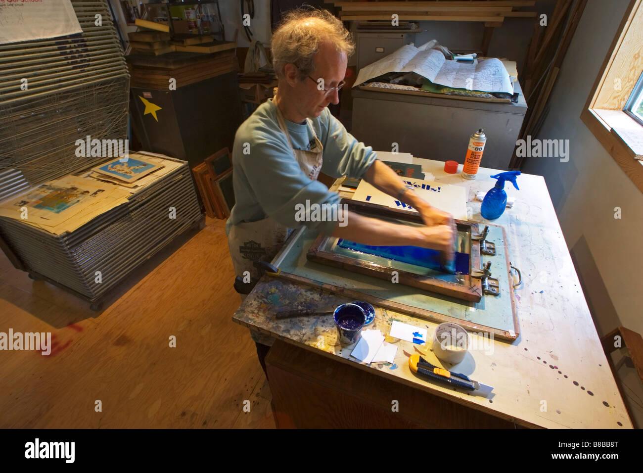 Printmaker - Stock Image