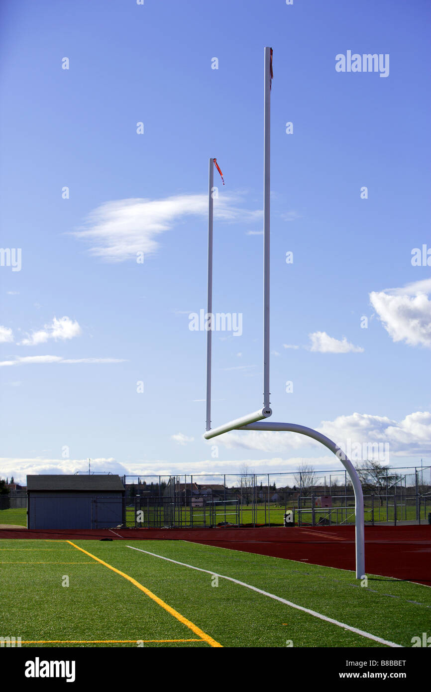 A new astro turf foot ball field - Stock Image