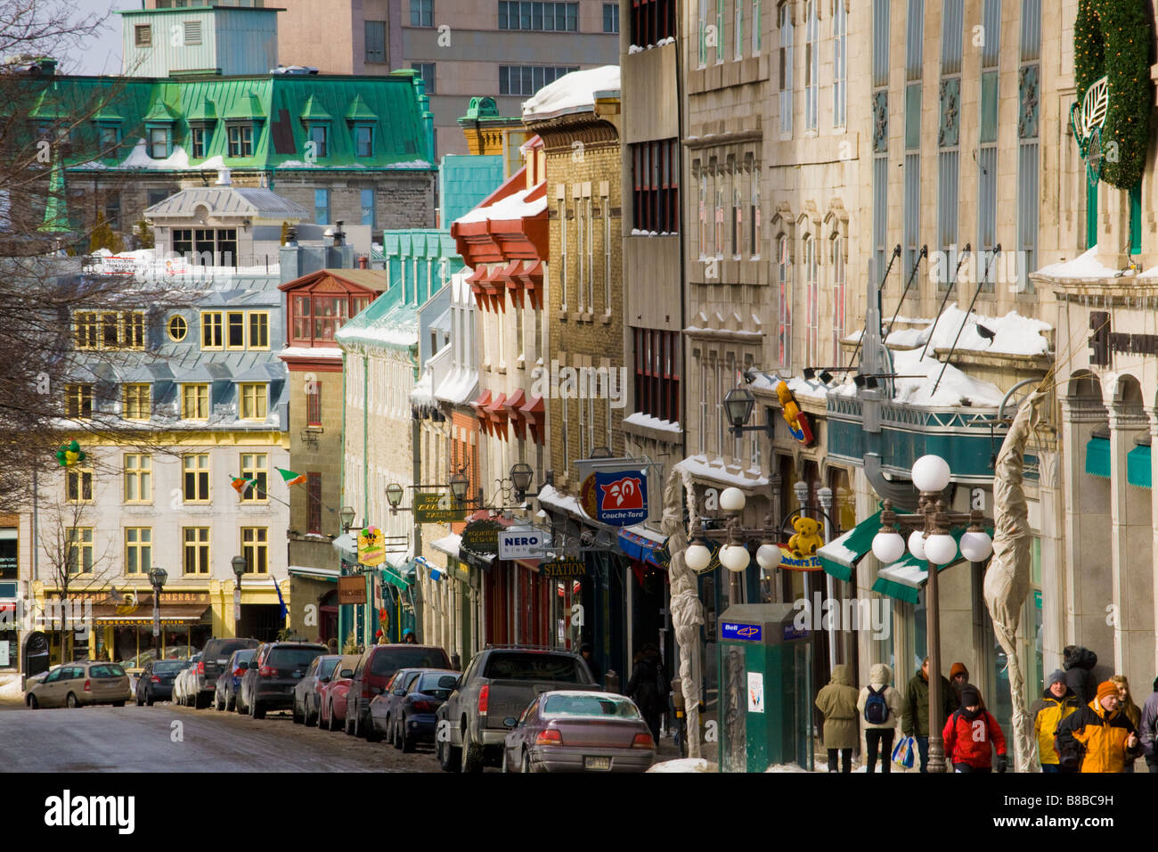 Latin Quarter Old Town Upper Town Quebec city - Stock Image