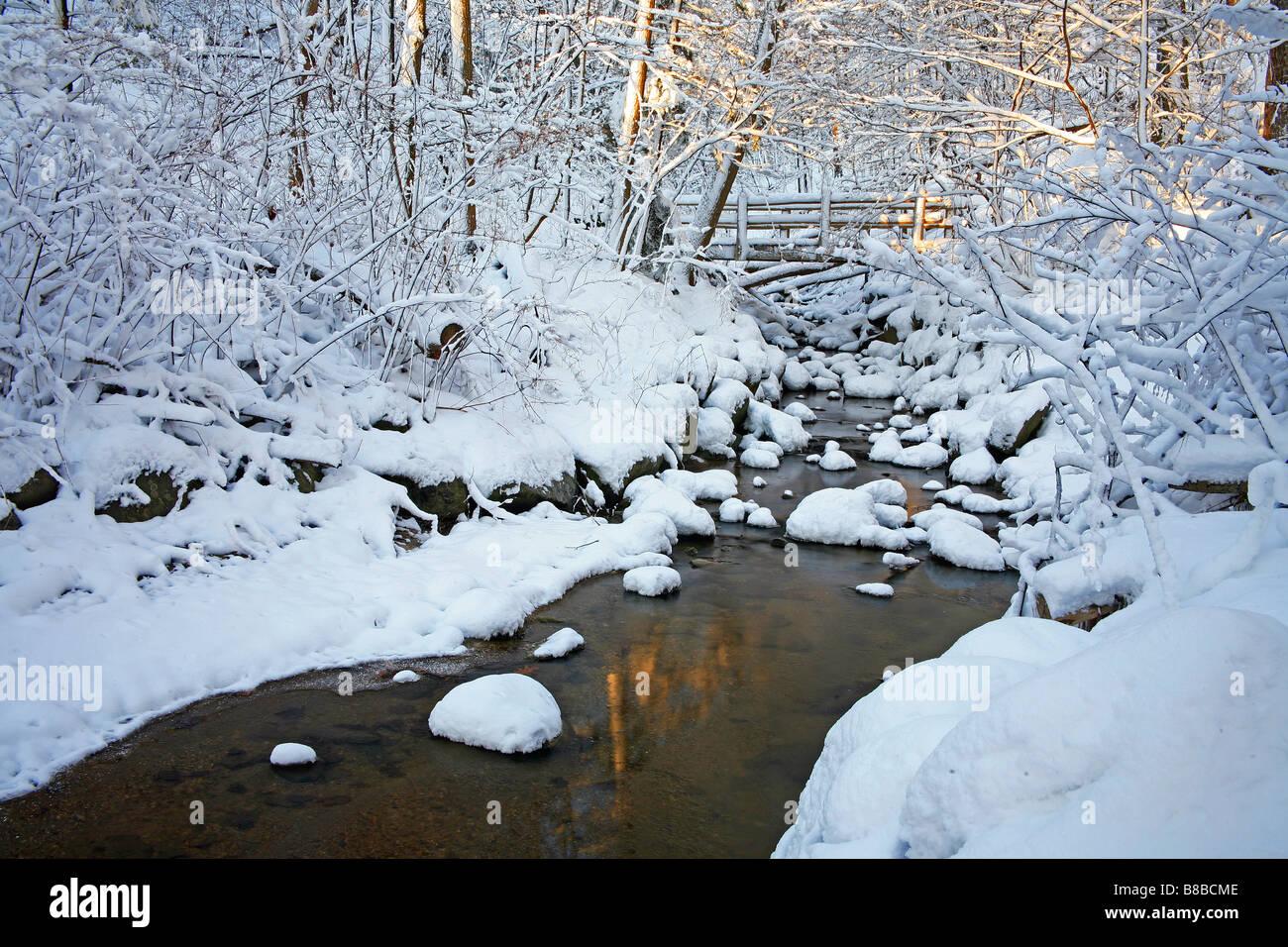 Walking By Wingra Creek In Snow >> Winter Stream Wisconsin Stock Photos Winter Stream Wisconsin Stock
