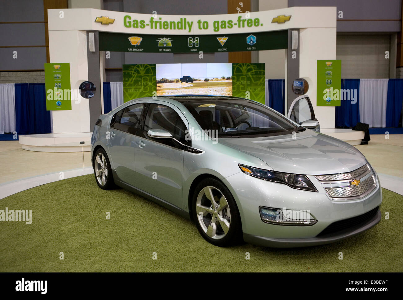Chevrolet Volt Stock Photos Images Alamy Chevy Gas 4 February 2009 Washington D C The On Display At Auto Show