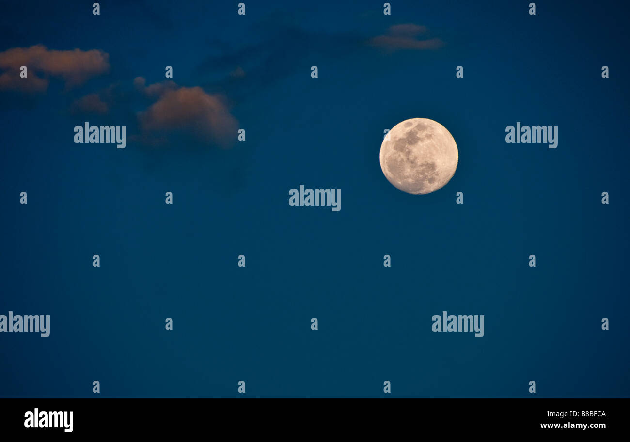 Full moon in the tropics Stock Photo