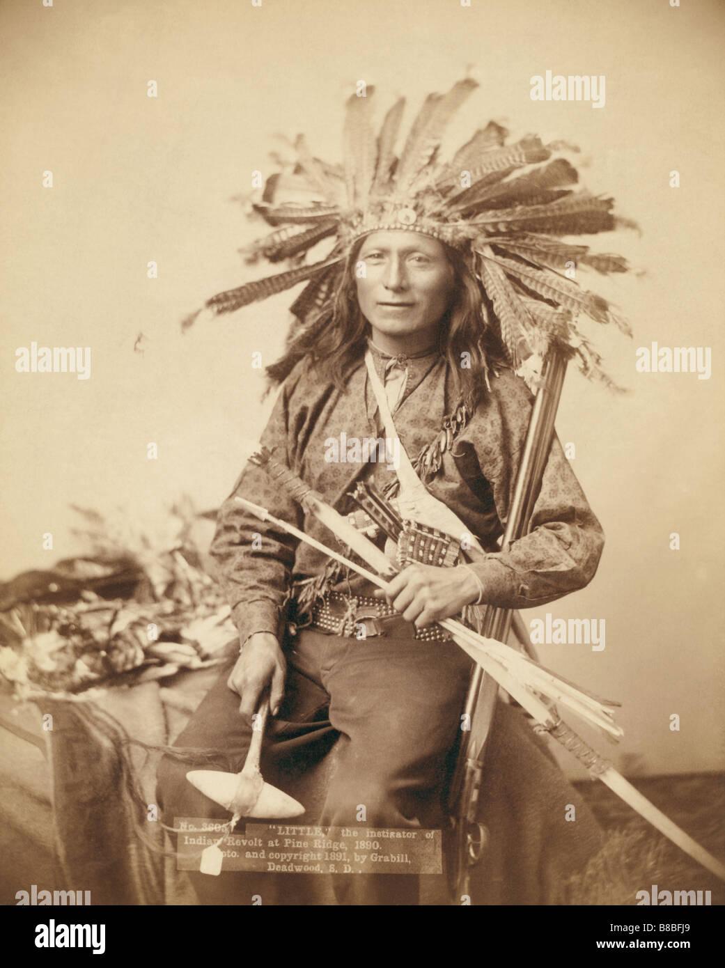 Little, the instigator of Indian Revolt at Pine Ridge, 1890 - Stock Image
