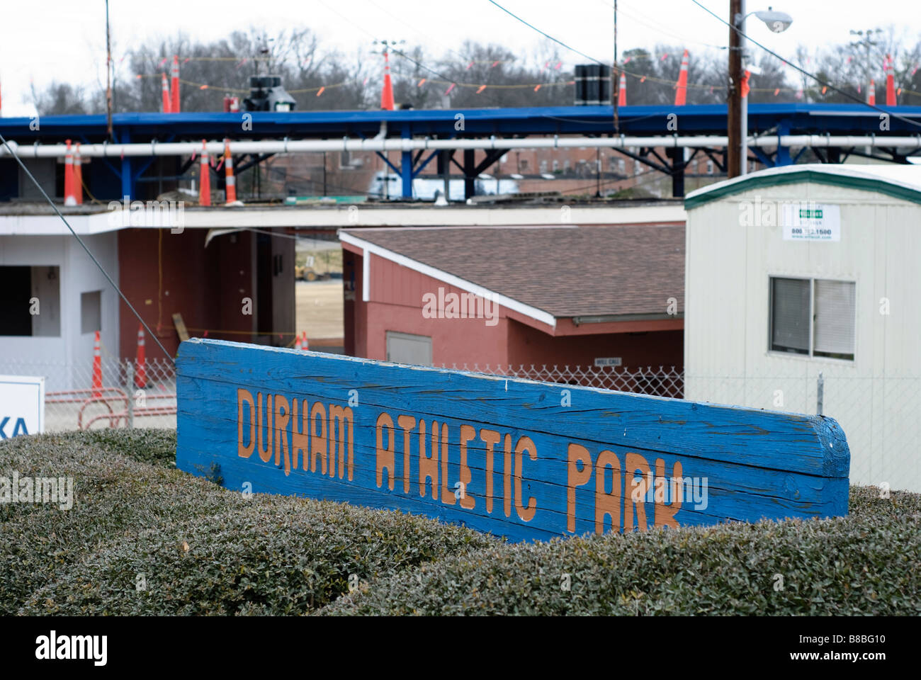 Durham Athletic Park former stadium of the Durham Bulls Baseball team - Stock Image