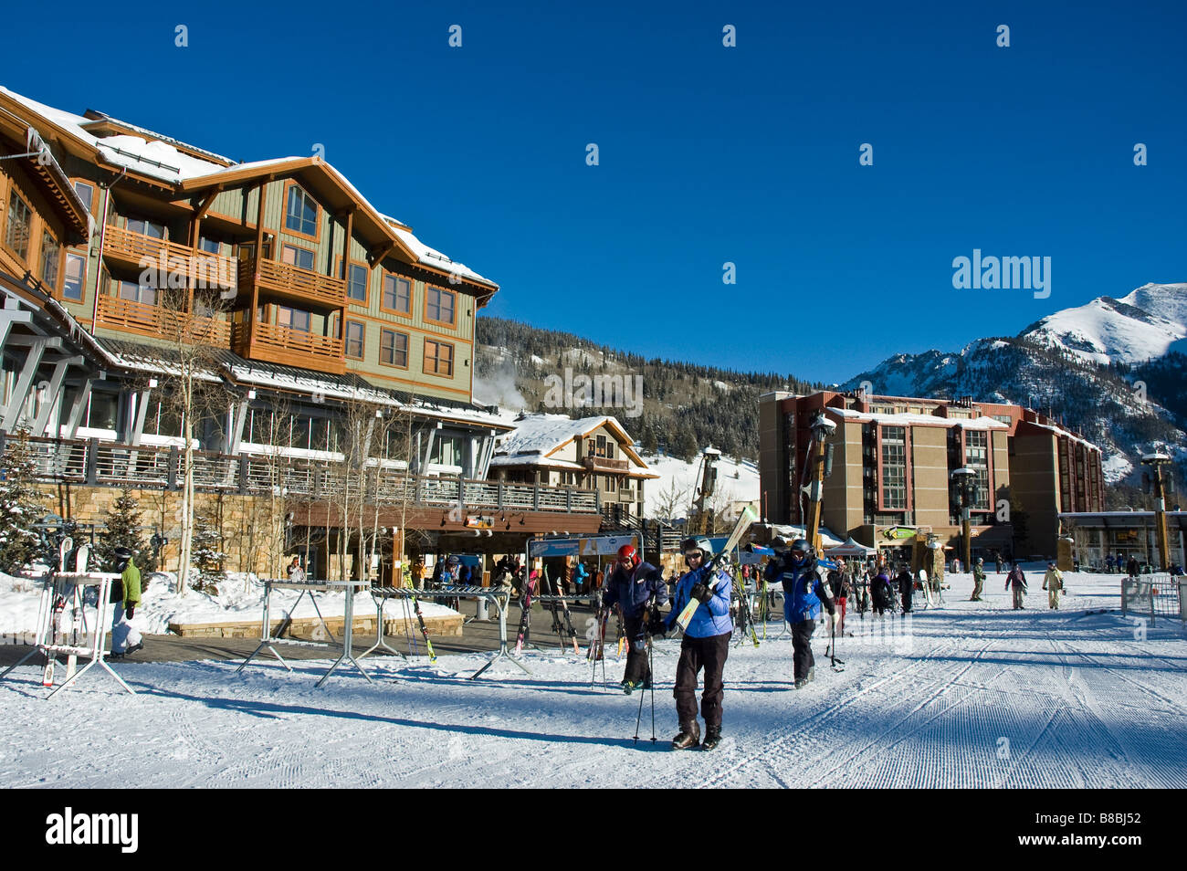 jacks and other base area buildings, copper mountain resort, summit