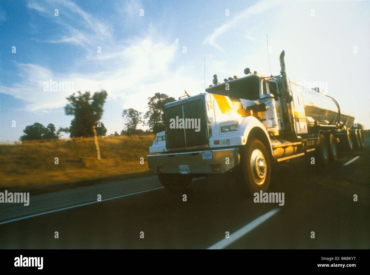 FL1040, BD Productions; Transport Truck - Stock Image