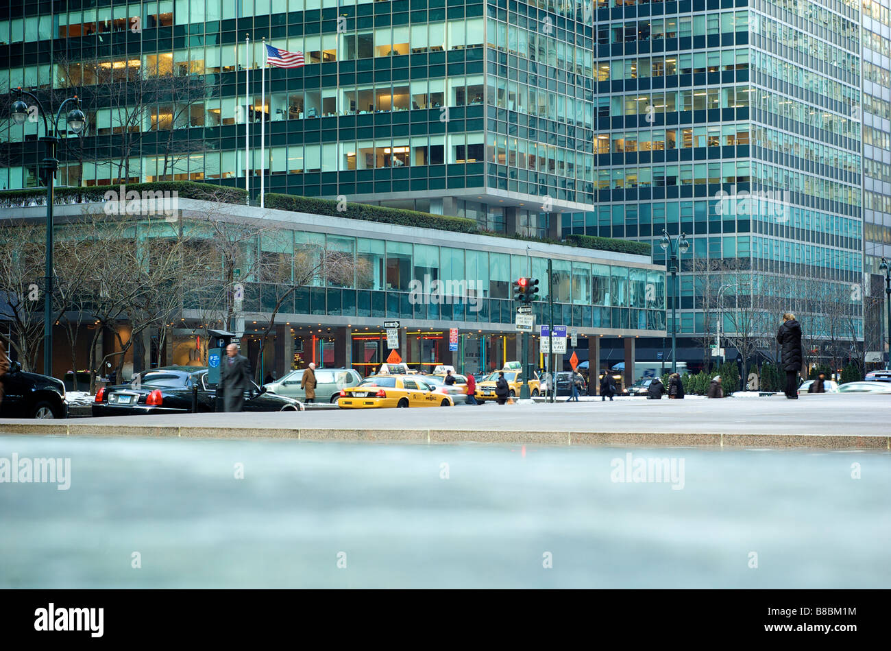 Lever House designed by Gordon Bunshaft of Skidmore Owings and Merrill in New York City NY USA (For Editorial Use - Stock Image