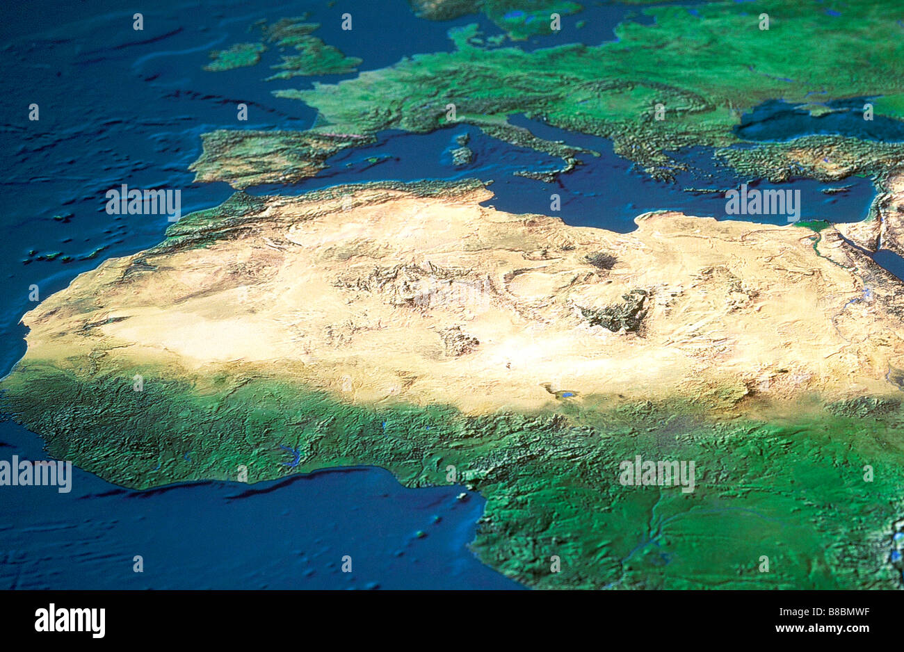 Map Northern Africa Stock Photo: 22385483 - Alamy