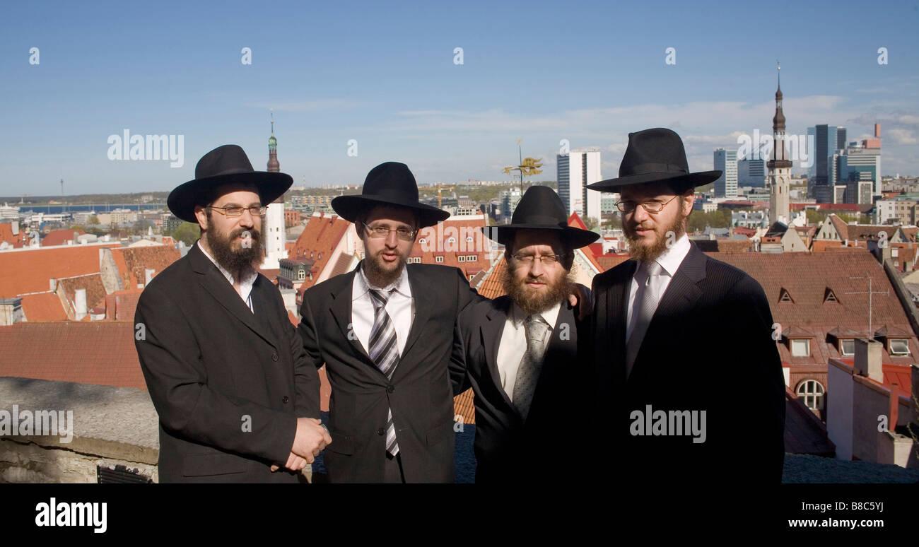 Rabbis meeting in Tallin, Estonia Stock Photo