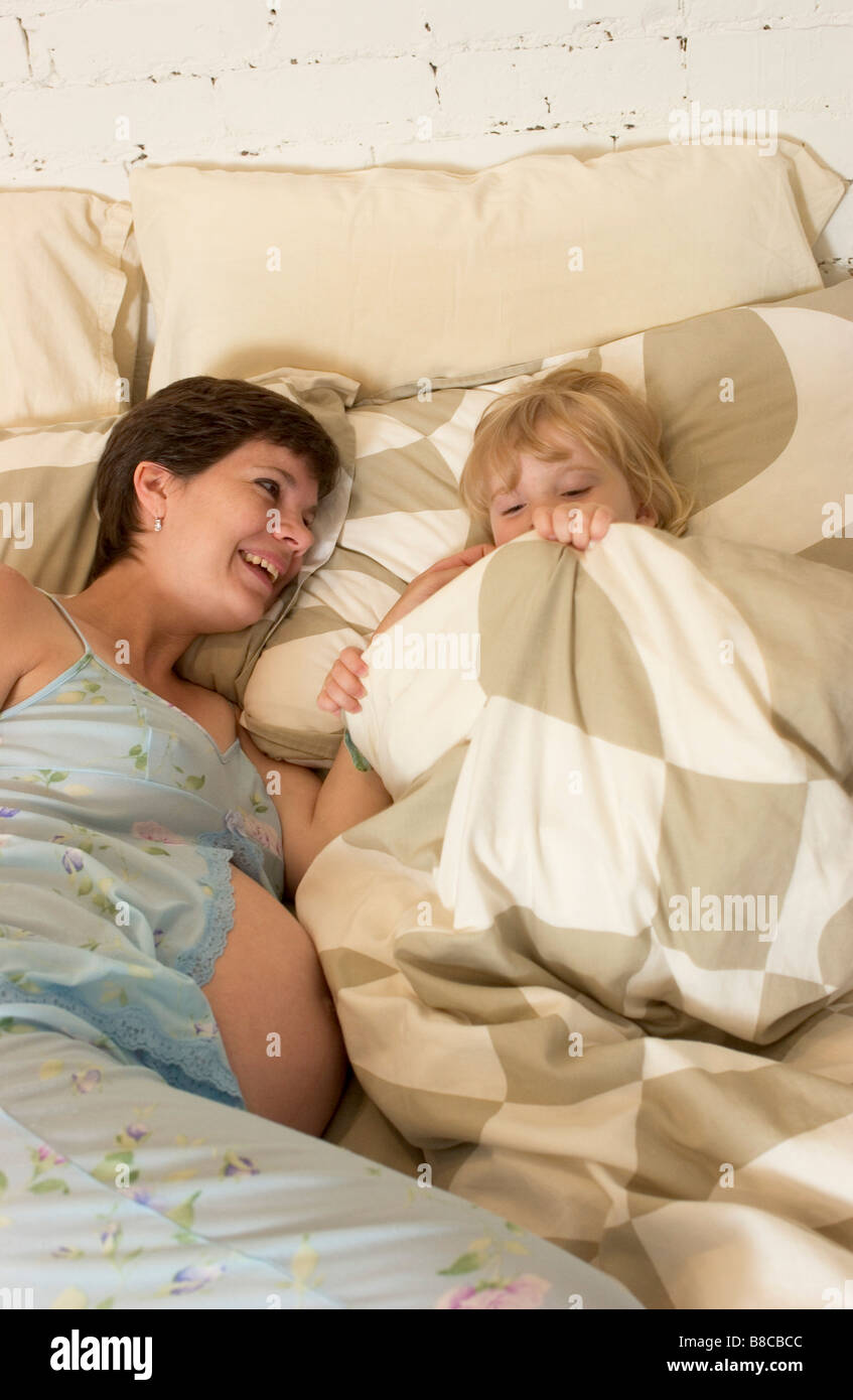 Mother  Daughter Bed - Stock Image