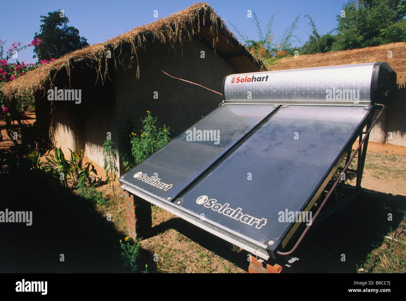 Solar panels heating - Stock Image
