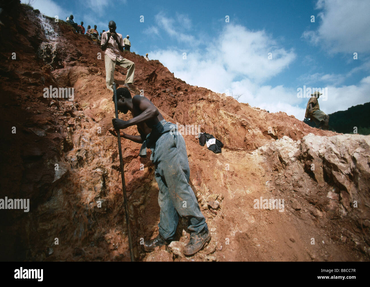 GOLD MINER AT WORK - Stock Image