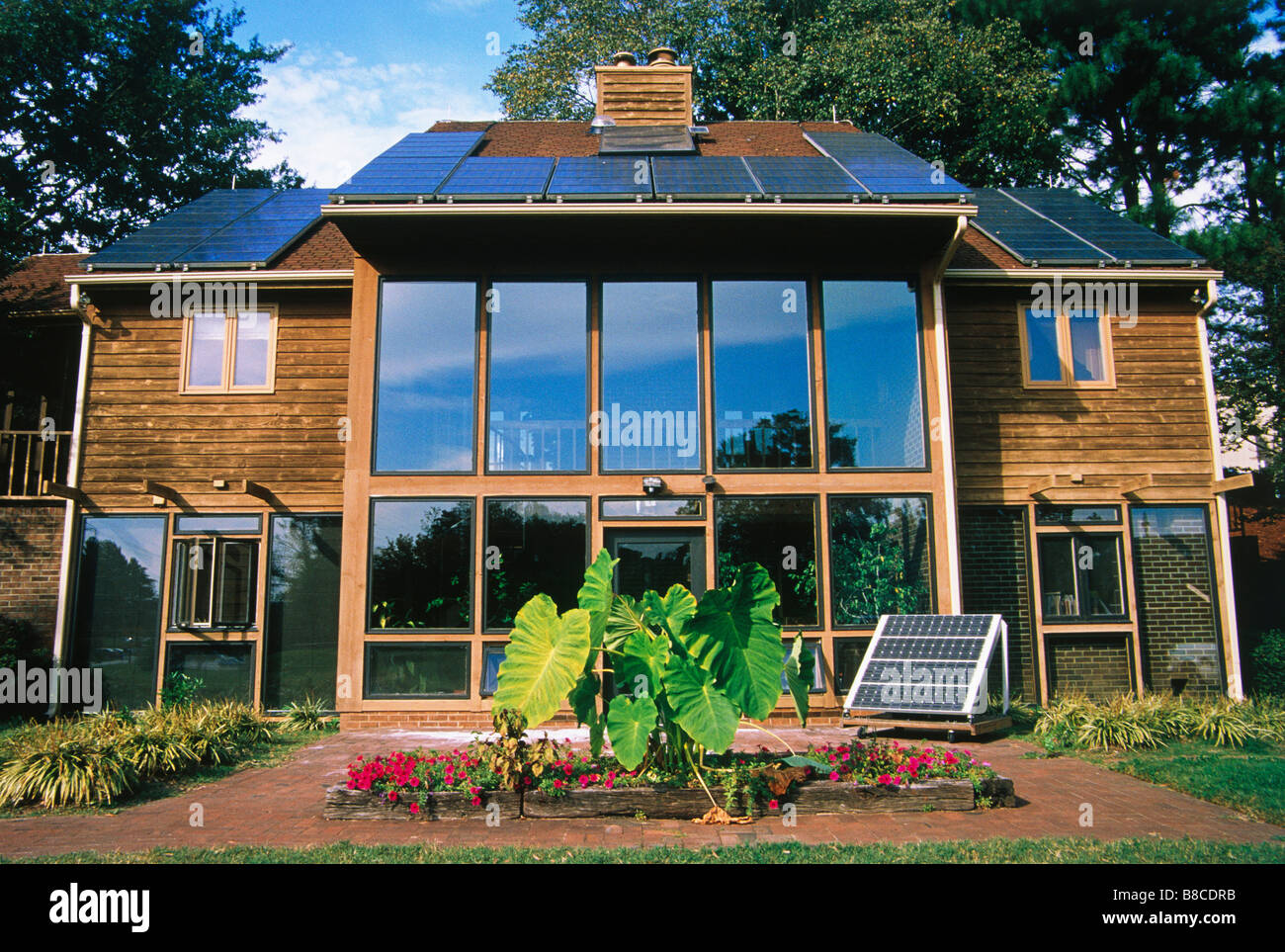 Solar powered House - Stock Image