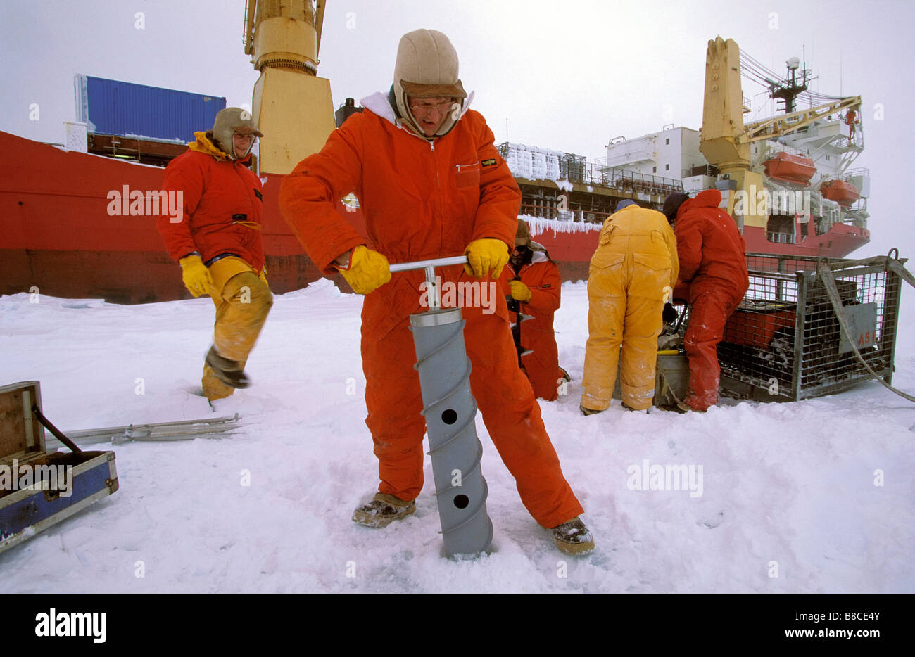 ANTARCTIC RESEARCH - Stock Image